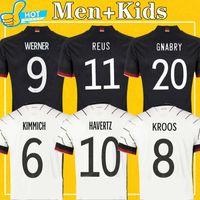 2021 Gnabry Kroos 축구 유니폼 홈 Kimmich Werner Reus Waldschmidt Brandt Klostermann 20 21 National Team Footbal Shirt Men + Kids Kit