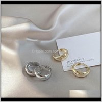 Jewelryfashion Metal Hoop Earrings Punk Charm Round Hollow Smooth Geometric For Women Party Jewelry & Hie Drop Delivery 2021 S18P0