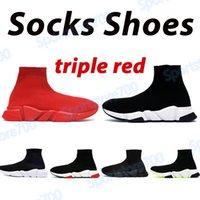 2021 Chaussettes pour hommes Chaussures Platform Chaussures Fashion Casual Entraîneurs en plein air Triple rouge noir Blanc Blanc Hommes Femmes Sport Sneaker US 6-12