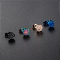 Titan Stahl Matte Ohrringe Herren- und Damenmode Ohrclips Perle Sandohrring Europäische und amerikanische Ohrringe Großhandel 3052 Q2