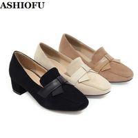Dress Shoes ASHIOFU Handmade Ladies High Heels Pumps Casual Business Party Slip-on Daily Wear Evening Fashion