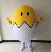 Halloween adorável egg mascote traje de alta qualidade personalizar desenhos animados caráter do tema do theme de pelúcia caráter adulto Carnaval de Natal fantasia vestido