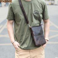 Evening Bags PNDME Simple Genuine Leather Men's Small Messenger Bag Designer Original Natural Real Cowhide Youth Daily Phone Shoulder