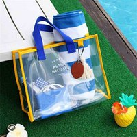 Summer Children's Large Capacity Transparent Swimming Bag Fashion Waterproof Outdoor Travel Wash Cosmetic Bags Swimsuit Storage Handbag Totes G701JU1