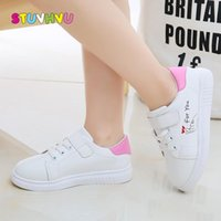 Sneakers Fashion Brand Children Leather White Girls Shoes Spring And Autumn School Running Breathable Kids Sport