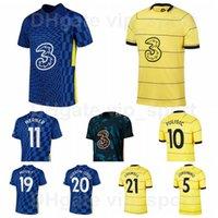 2021 2022 Fotboll 11 Werner Jersey 5 Jorginho 19 Mount 10 Pulisic 15 Zouma 20 Hudson-Odoi Barkley 21 Chilwell 9 Abraham 29 Havertz Azpilicueta Fotbollskjorta Kits Q-E-X