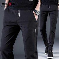Pantalon décontracté de Jantour Summer Hommes Pantalons Homme Pantalon Male Slim Fit Travail Élastique Taille Élastique Pantalon Coly-Cool 210616