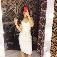 Casual Dresses Fashion 2021White Sexy Bandage Women Spaghetti Strap Belt Sashes Red White V Neck Party Club Vestidos Bodycon 15 Colors