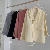 Pink Casual All-match Suit Jacket Women's Drape Summer Thin Temperament Small Suits & Blazers