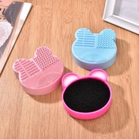 Makeup Brushes Brush Cleaning Box Dry And Wet Cleaner Washing Pad Eyeshadow Stain Removal Make Up Scrubber Sponge Tool 1Pcs