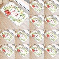 붉은 꽃 편지 패턴 40 * 60cm 주방 입구 문 매트 산호 벨벳 카펫 고무 실내 바닥 매트 비 안티 슬립 러그 48037 카펫