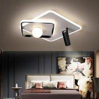 천장 조명 Led 램프 현대 금속 검은 광장 침실 거실에 대 한 샹들리에 매달려 주방 실내 조명기구