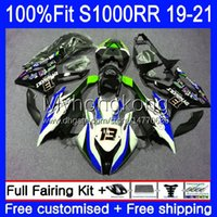 OEM Injection Mold For BMW S 1000RR S1000 RR S1000RR 19-21 Body 3No.104 S-1000RR Bodywork S-1000 S 1000 Green blue hot RR 2019 2020 2021 S1000-RR 19 20 21 100%Fit Fairings