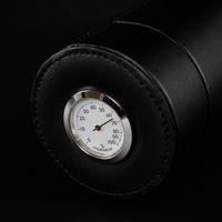 시가 절묘한 생산 성능과 신뢰할 수있는 우수한 품질의 블랙 코 하이바 정품 가죽 여행 튜브 항아리 습도계가있는 튜브 항아리