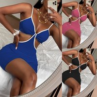 2021 Summer New Products European and American Fashion Temperament Commuting Sling Women's Jumpsuits & Rompers