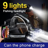 Est T6 LED Headlamp 18650 Rechargeable Usb Head Torch 500M Lamp Front Fishing Waterproof Hunting Lantern Headlamps