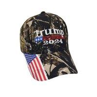 25 adet / DHL Kamuflaj Trump 2024 Top Şapka Kadın Erkek Tasarımcılar Snapback Beyzbol Kapaklar Anti Biden ABD Bayrağı Maga Yaz Güneş Visor G33JAQG