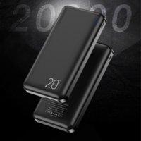 Power Bank Dual USB-интерфейс 20000 мАч портативное зарядное внешнее зарядное устройство Black Powerbank для iPhone Samsung Xiaomi Huawei