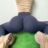 Kadın Tayt Tayt Yüksek Bel Yoga Pantolon Scrunch Butt Asansör Siyah Sarı Mavi Naylon Spandex Yoga Fitness Egzersiz Spor Pantolon S-XL