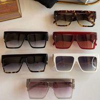 선글라스 40030 평방 원피스 프레임 망 캐주얼 스포츠 스타일 넓은 사원 여자 쇼핑 해변 안경 UV400 보호 벨트 상자 배달