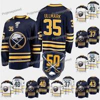 Kob Buffalo Sabres 50e anniversaire 35 Linus Ullmark 37 Casey Mittelstadt 40 Carter Hutton 43 Conor Sheary 48 Matt Hunwick Ice Hockey Jerseys