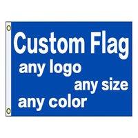 Bandiera della bandiera della stampa 3x5ft personalizzata con il tuo logo di progettazione per bandiere dirette di OEM DIY