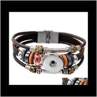 Est design ginger schnapp armband snap knöpfe noosa punks leder armbänder für frauen fit 18mm rivca snap schmuck p00449 zofwj nfrui
