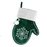 Decorazioni natalizie Decorazioni di regalo di caramelle Sacchetti di Natale Xmas Snowflake Gloves Pendenti Albero Albero Ornamenti DWA8946