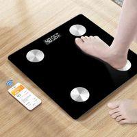 Пол взвешивание ванной комнаты S BMI FAT Smart Bluetooth приложение Electronic Scale Body Code Analyzer