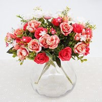 Blumenstrauß 15 köpfe europäischen stil künstliche königliche rose hochzeit balkon bonsai bühnengarten hause desktop büro dekor blumen dekorative wre