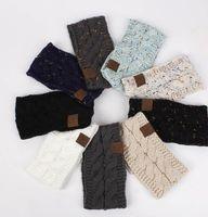 CC Fairband Красочное вязаное вязаное вязание вязание крючком повязки зимнее уха теплые эластичные волосы группа широкие аксессуары