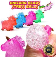 Unicorn Toys Stress Balls for Kids Teens and Adults Stress Relief Anti-Anxiety Water Beads Filled Squeezing Toy Gift