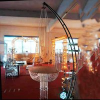 Other Festive & Party Supplies Wedding Fashion Acrylic Hanging Flower Holder Crystal Chandeliers Cake Stand Birthday Dessert Crafts Toys Dis