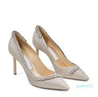 designer Elegant Bridal Wedding Dress Sandals Shoes Pointy-Toe Leaf Crystal Pumps Lady High Heels Women's Sexy Walking