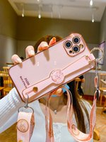 (+ Film di idrogel) Apple 12promax Telefono Case All-inclusive IPhone12 Silicone 12Pro Anti-Fall 12mini Braccialetto 11 MAX BRACKET PRO