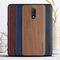cases for Oneplus 7 soft TPU silicone material & wood PU leather skin covers coque fundas for Oneplus 7