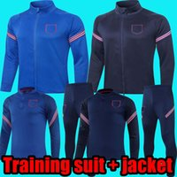 2021 Inghilterra formazione giacca giacca manica lunga manica corta kit da uomo vestito formazione indossare jersey di calcio