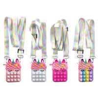 Fidget Toys Sensory Christmas halloween Color unicorn coin purse Push Bubble Tie dye Anti Stress Educational Children Adults Decompression Toy Surprise wholesale