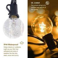 Iluminação de férias LED strings corda luz 25 globo lâmpadas pátio pendurado luzes ao ar livre