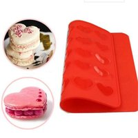 Rolling Pins & Pastry Boards 1Pcs Heart Shape 30 Holes Silicone Cake Mould Mat Baking Sheet Muffin Tray Reusable DIY Bakeware Tool