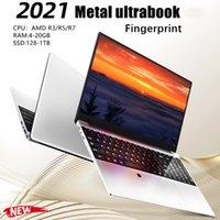 2021 جديد 15.6 بوصة محمول معدني AMD R3 / R5 / R7 خفيفة الوزن المحمولة مكتب الأعمال تصميم الكمبيوتر 20GB RAM 256G 1TB SSD