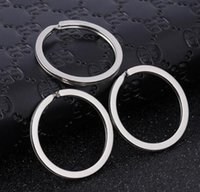 2021 1.7x28mm Metal Key Ring Keychain for Car Keys Chain Round Split Fashion Flat Keyrings Keychain Charms Wholesale Gifts for Women