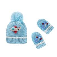 Christmas Baby Hats Newborn Caps Toddler Beanie Girls Boys Hat Children Knitted Cap Gloves 2Pcs Set Accessories Autumn Winter 0-3T B8712