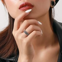Cluster Rings Retro Vintage 100% Authentic 925 Sterling Silver Fine Jewelry Beads Ball Band Ring TLJ927