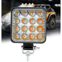 MIni 48W Car Work Light Two-color Mixed Light White+Yellow LED 12V Off-road Vehicle Inspection Light Working Lamp Spotlight