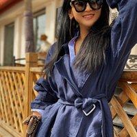 Женская одежда для одежды траншеи женское пальто женское белье Свободные крупные расширенные двуспальные шикарные синжера Windreaker женщина