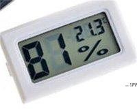 NOUVEAU Noir / Blanc Mini Numérique Environnement LCD Thermomètre Hygromètre Humidité Température Compteur dans la chambre Réfrigérateur Icebox FWD5661