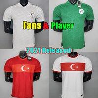 2021 Futbol Formaları Cezayir Hayranları Oyuncu Sürüm Türkiye Türk 2022 Eve Uzaktan Futbol Gömlek 21 22 Camisetas Maillot De Foot Erkekler Kids Kits