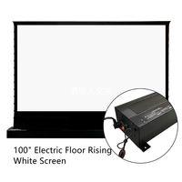 VIVIVIVEDORM 100INCH الكهربائية بمحركات أرضية ارتفاع شاشة العرض توتر مع 4K HD السينما الستائر الأبيض فيلم الستار الأبيض ل رمي العادي الإسقاط غرفة مظلمة داخلي