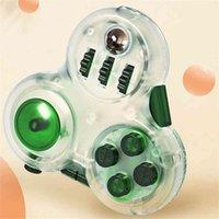 Clear Fidget Almofadas com 10 Recursos Stress Relief Toks Brinquedos Divertido Squeeze Cubos Mágicos Jogo Controlador Handle Engrenagem Botão de rolos de ponta
